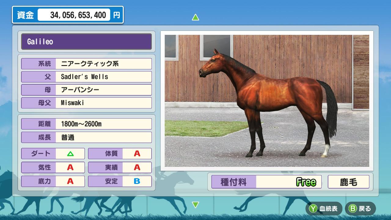 新作ダービースタリオン 海外種牡馬について【Nintendo Switch】